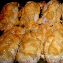 куриная грудка кус. запеченная в белом соусе