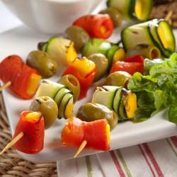 шпажки с овощами