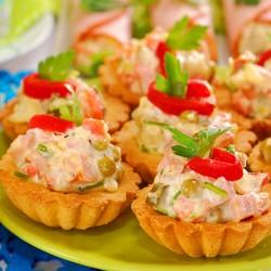 """салат """"Оливье"""" тарталетки"""